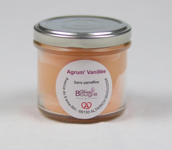 Bougie pot agrume vanillee