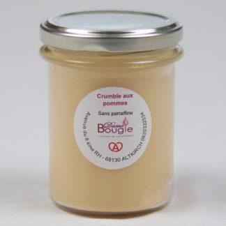 Bougie pot crumble pomme cannelle